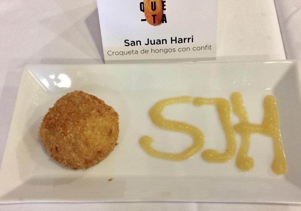 Croqueta de hongos con confit de San Juan Harri ganadora de la I Semana de la Croqueta de Gipuzkoa
